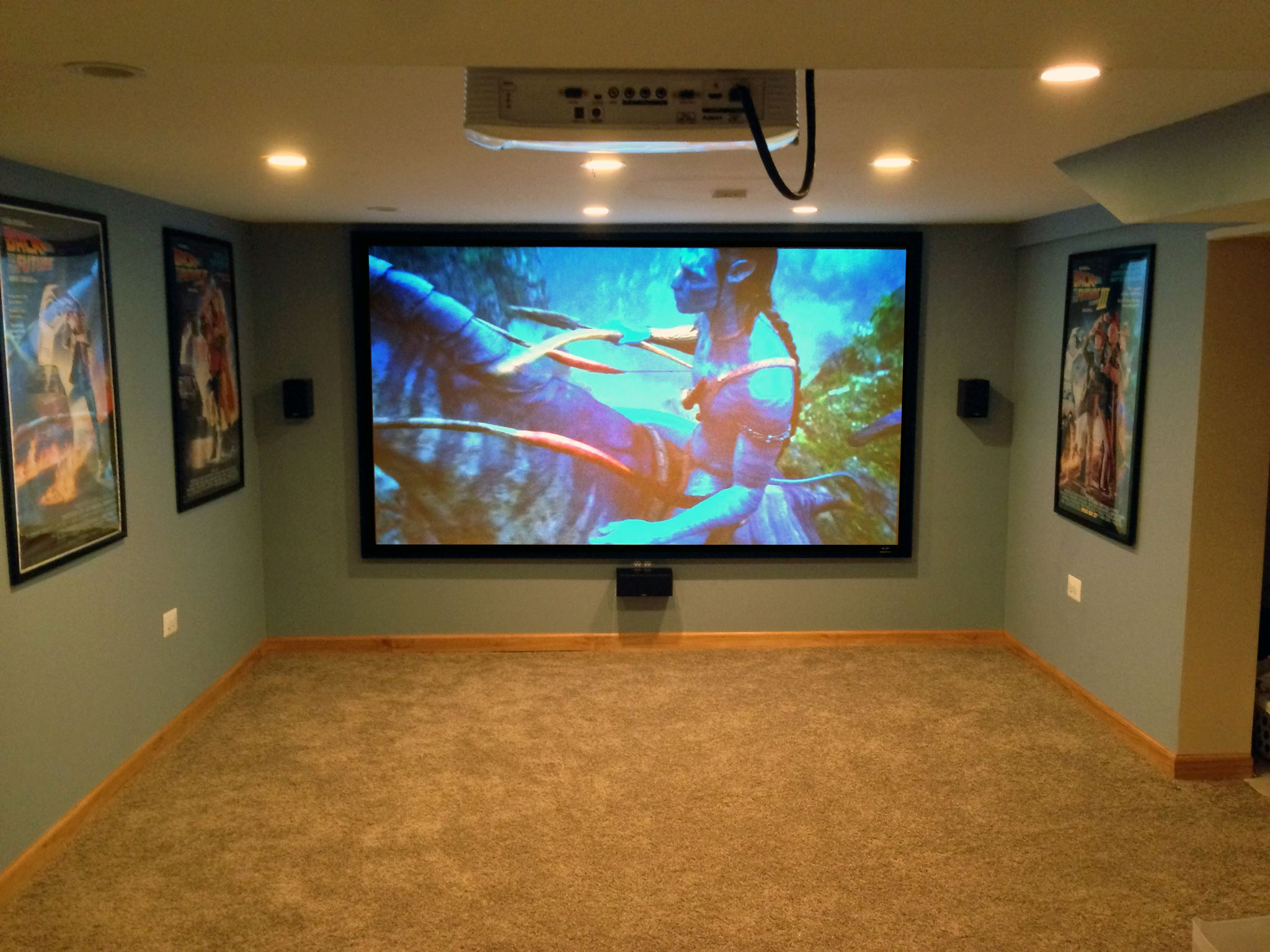 Home Theater  Projector installation Houston iTEK